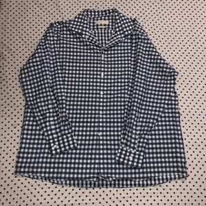 Michael Kors non-iron long sleeve plaid shirt